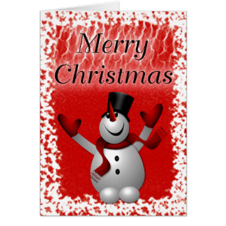 Snowy Snowman Card