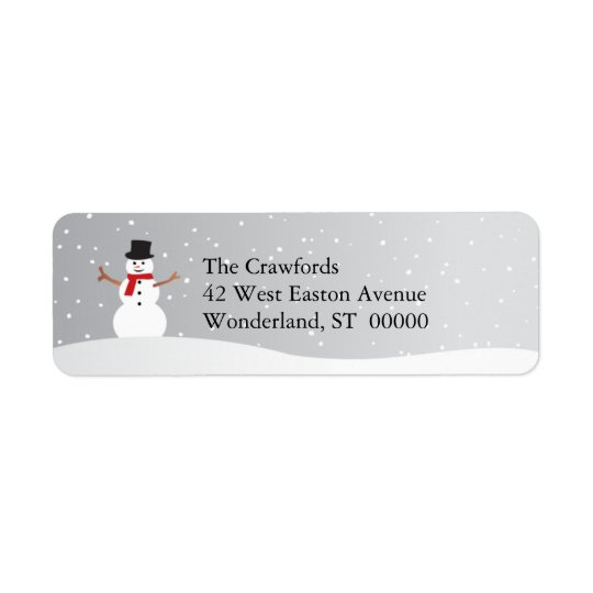 Snowy Snowman Return Address Label
