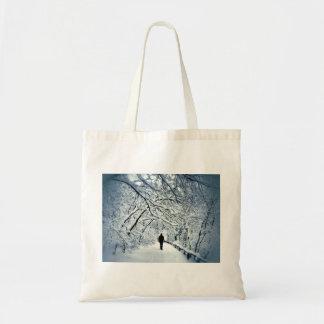 Snowy Solitude Tote Bag