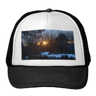 Snowy Sunrise Mesh Hats