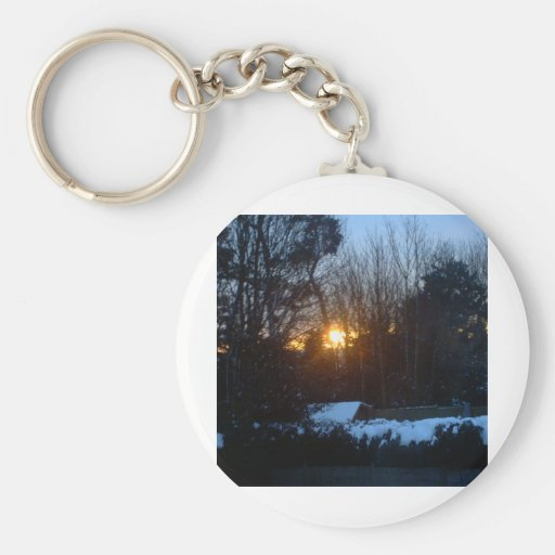 Snowy Sunrise Key Chains