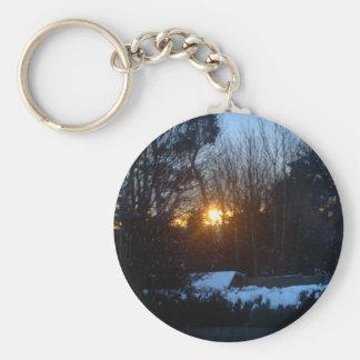 Snowy Sunrise Key Chain