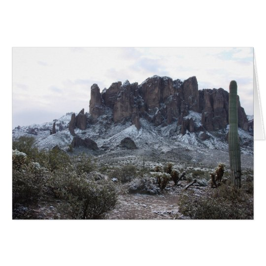 Snowy Superstition Mountains Card