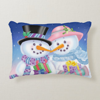 Snowy Sweethearts Accent Pillow
