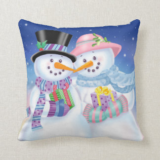 Snowy Sweethearts Pillow