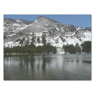 Snowy Tenaya Lake Yosemite National Park Photo Tissue Paper