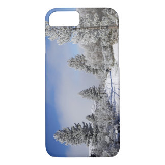Snowy Track and Pine Trees, Cambrians, near St iPhone 7 Case