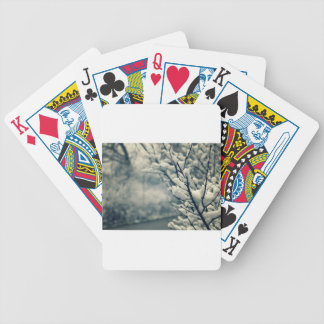 Snowy Tree Mouse Pad Bicycle Playing Cards