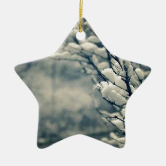 Snowy Tree Mouse Pad Ceramic Ornament