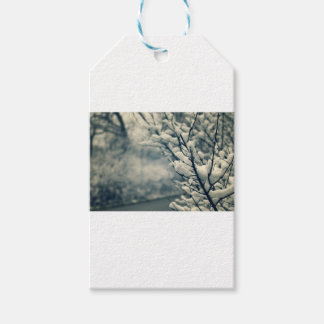 Snowy Tree Mouse Pad Gift Tags