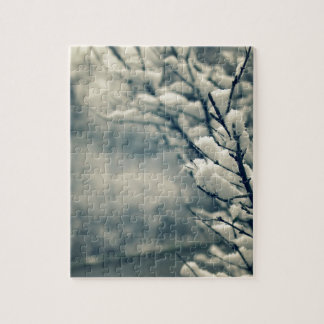 Snowy Tree Mouse Pad Jigsaw Puzzle