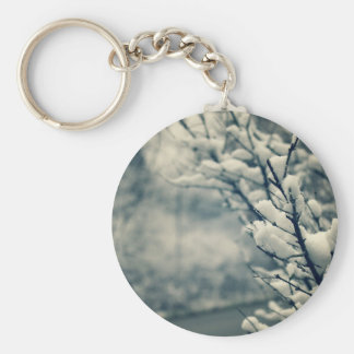 Snowy Tree Mouse Pad Keychain