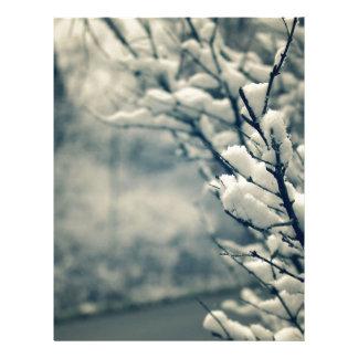 Snowy Tree Mouse Pad Letterhead