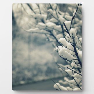 Snowy Tree Mouse Pad Plaque