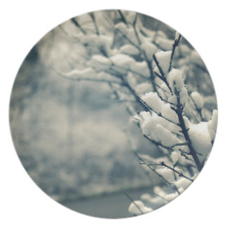 Snowy Tree Mouse Pad Plate