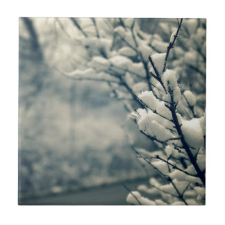 Snowy Tree Mouse Pad Tile