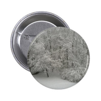 Snowy Trees 2 Inch Round Button