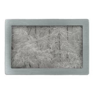 Snowy Trees Belt Buckle