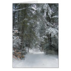 Snowy Trees Notecard