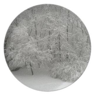 Snowy Trees Plates