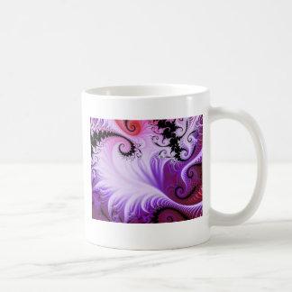 Snowy Vines Fractal Mug