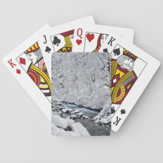 Snowy white creek scenic, Oregon Playing Cards