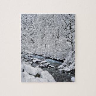 Snowy white creek scenic, Oregon Puzzle
