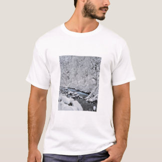 Snowy white creek scenic, Oregon T-Shirt