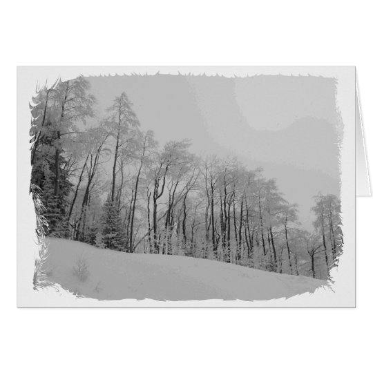 Snowy White Tips Card