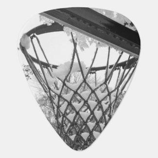 Snowy Winter Basketball Net Pick