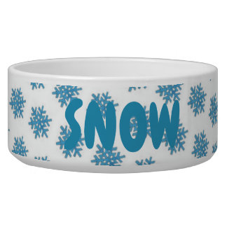 Snowy Winter Blue Snowflake Snow Dog Personalized