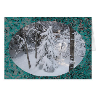 Snowy Winter/Christmas Letter Greeting Card