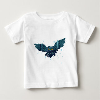 Snowy Winter Forest and Owl 2 Baby T-Shirt