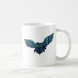 Snowy Winter Forest and Owl 2 Coffee Mug