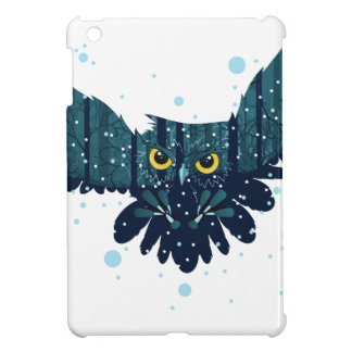 Snowy Winter Forest and Owl 2 Cover For The iPad Mini