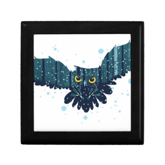 Snowy Winter Forest and Owl 2 Gift Box