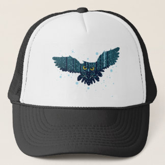 Snowy Winter Forest and Owl 2 Trucker Hat