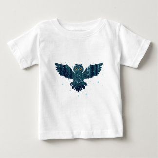 Snowy Winter Forest and Owl Baby T-Shirt