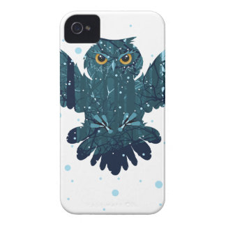 Snowy Winter Forest and Owl iPhone 4 Cover