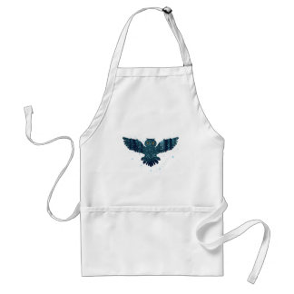 Snowy Winter Forest and Owl Standard Apron