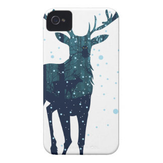 Snowy Winter Forest with Deer 2 Case-Mate iPhone 4 Case