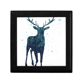 Snowy Winter Forest with Deer 2 Gift Box