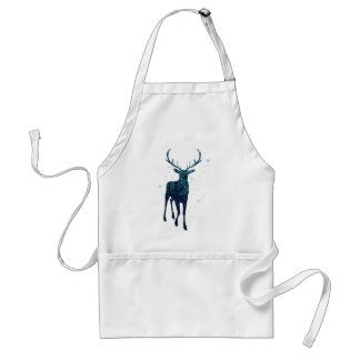 Snowy Winter Forest with Deer 2 Standard Apron