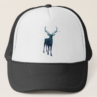 Snowy Winter Forest with Deer 2 Trucker Hat