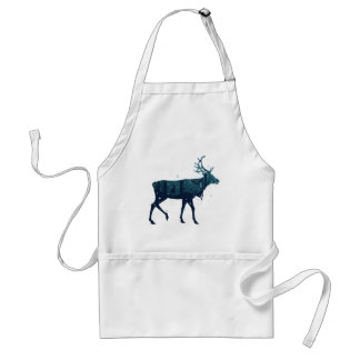 Snowy Winter Forest with Deer Standard Apron