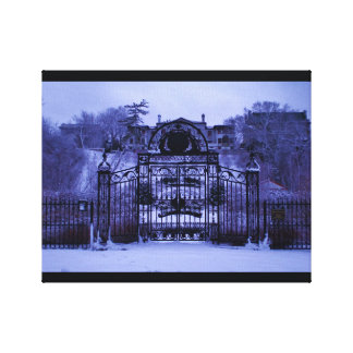 Snowy Winter Gate Canvas Print