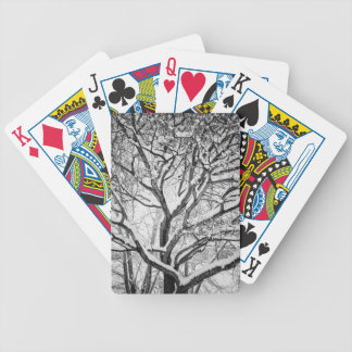 Snowy Winter Intertwine Bicycle Playing Cards