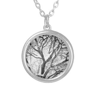 Snowy Winter Intertwine Silver Plated Necklace