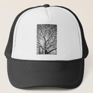 Snowy Winter Intertwine Trucker Hat