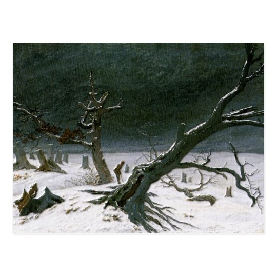 Snowy Winter Landscape - Friedrich Postcard
